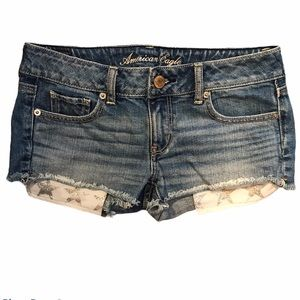 American Eagle Jean Short with Star Pockets Size 2